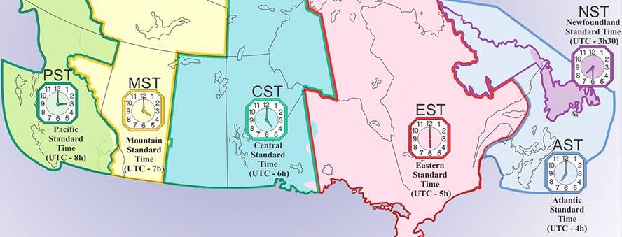 Kanadada Saat Kaç Kanada Saat Dilimleri Kanadadaki Türk Firma