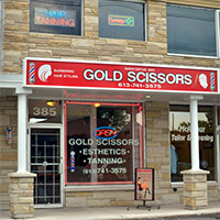 Gold Scissors Hair Salon